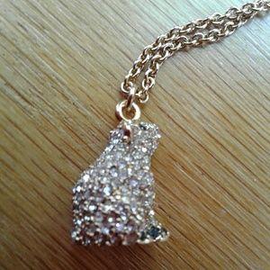 Kate Spade Necklace Gold w/Rhinestone Polar Bear